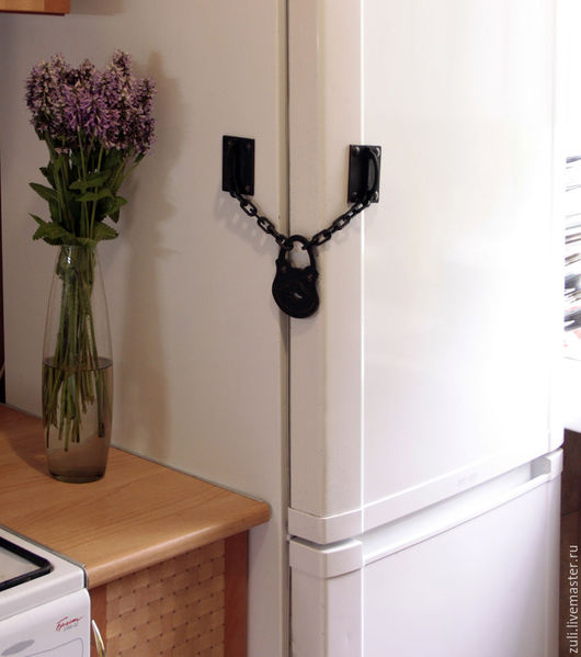 """Магниты ручной работы. Ярмарка Мастеров - ручная работа. Купить Магнит на холодильник """"Амбарный замок"""". Handmade. Черный, магнитный замок"""