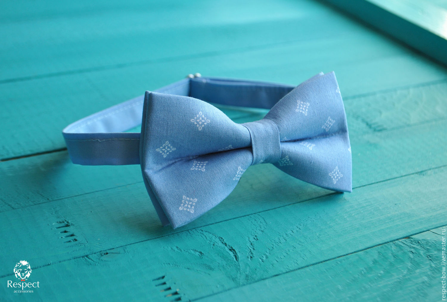 0f23ca09ee0e Buy Tie Milord / blue bow Ties & Bow Ties handmade. Tie Milord / blue bow  tie, blue wedding.