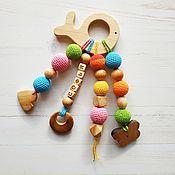 Работы для детей, handmade. Livemaster - original item Personalized teething toy (teether) from a tree