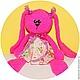 Игрушки животные, ручной работы. Заказать Мятная и розовая  Зайка амигуруми. Kireeva Katerina   +7 918 313 14 13. Ярмарка Мастеров.