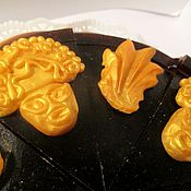 """Косметика ручной работы. Ярмарка Мастеров - ручная работа """"ЗОЛОТО ИНКОВ"""" мыло-торт. Handmade."""