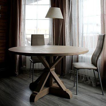 Мебель ручной работы. Ярмарка Мастеров - ручная работа Стол круглый из массива лиственницы. Handmade.