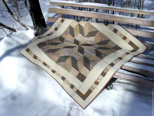 Текстиль, ковры ручной работы. Ярмарка Мастеров - ручная работа. Купить Плед лоскутный. Handmade. Комбинированный, для дома, лоскутный плед
