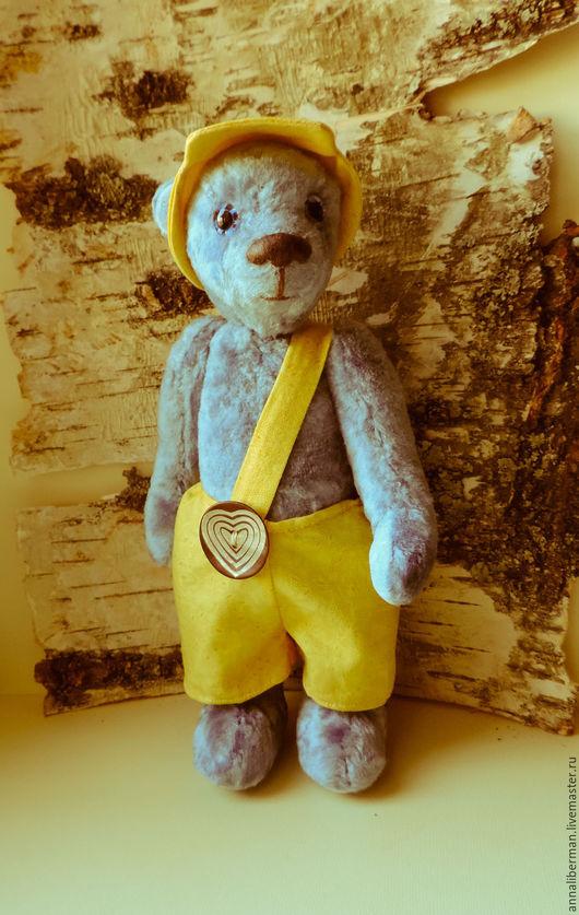 """Мишки Тедди ручной работы. Ярмарка Мастеров - ручная работа. Купить мишка Тедди """"Санёк"""". Handmade. Голубой, подарок девушке"""