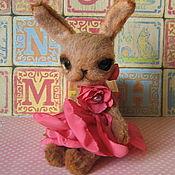Куклы и игрушки ручной работы. Ярмарка Мастеров - ручная работа Зайка.Бонниэль,17 см. Handmade.