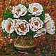 Картины цветов ручной работы. Ярмарка Мастеров - ручная работа. Купить Цветы в турке. Натюрморт. Handmade. Цветы, комбинированный