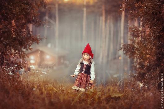 Одежда для девочек, ручной работы. Ярмарка Мастеров - ручная работа. Купить Красная шапочка. Костюм : платье и шапочка. Handmade.