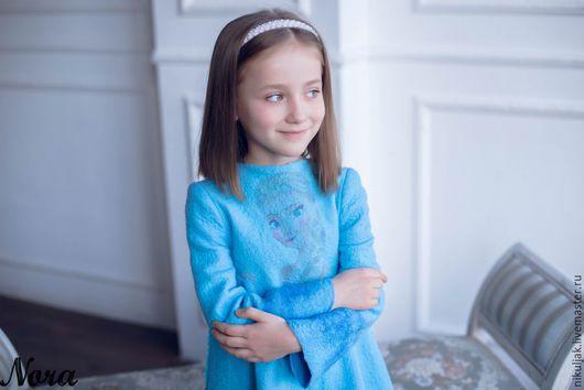 Одежда для девочек, ручной работы. Платье валяное Эльза. Холодное сердце. Nora (Nikuljak). Ярмарка Мастеров. Сказка, платье на заказ
