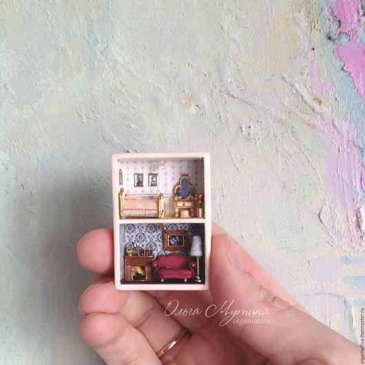 Миниатюра ручной работы. Ярмарка Мастеров - ручная работа. Купить Микродомик в спичечном коробке. Handmade. Комбинированный, olgamutina