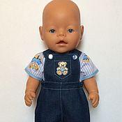 Куклы и игрушки ручной работы. Ярмарка Мастеров - ручная работа Джинсы с кофточкой для куклы мальчика. Handmade.