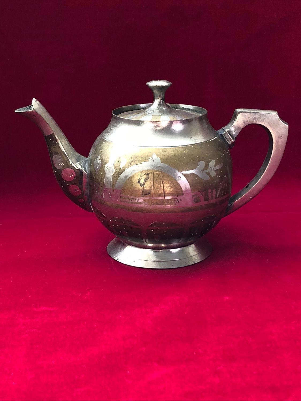 Винтаж: Старинный персидский заварочный чайник. Латунь, Чайники винтажные, Махачкала,  Фото №1