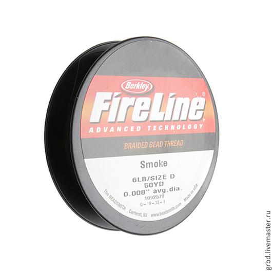Вышивка ручной работы. Ярмарка Мастеров - ручная работа. Купить Smoke Grey Fireline 6lb/Size D 0.008'' 50YD катушка. Handmade.