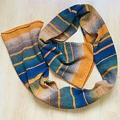 Шарфы ручной работы. Ярмарка Мастеров - ручная работа Вязаный шарф из пряжи Дундага. Handmade.