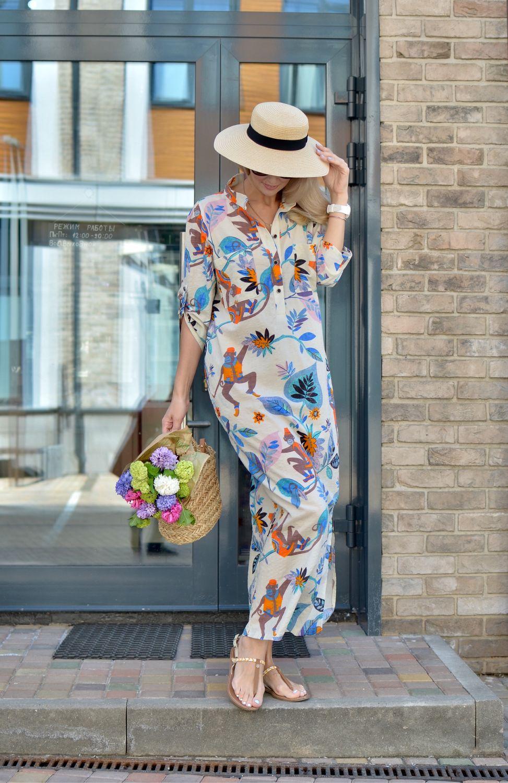 Платья ручной работы. Ярмарка Мастеров - ручная работа. Купить Платье-рубашка EGGDRESS MONKEY ISLAND. Handmade. Летнее платье