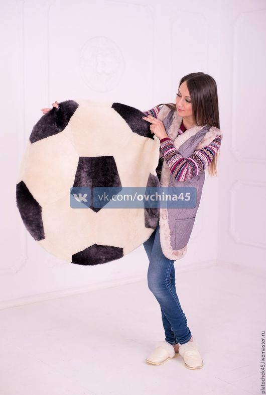 """Текстиль, ковры ручной работы. Ярмарка Мастеров - ручная работа. Купить Ковер из мутона """"Мяч"""". Handmade. Комбинированный, бесплатная доставка"""