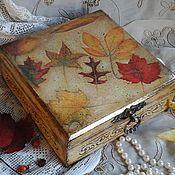 """Для дома и интерьера ручной работы. Ярмарка Мастеров - ручная работа Шкатулка """" Осеннее настроение"""" винтаж. Handmade."""