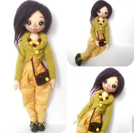 Коллекционные куклы ручной работы. Ярмарка Мастеров - ручная работа. Купить Кукла текстильная, 40 см. Handmade. Подарок девочке