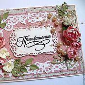 """Открытки ручной работы. Ярмарка Мастеров - ручная работа Открытка """"Розовые пионы"""". Handmade."""