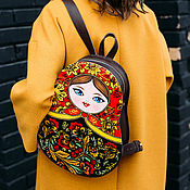Сумки и аксессуары handmade. Livemaster - original item Backpack leather women`s