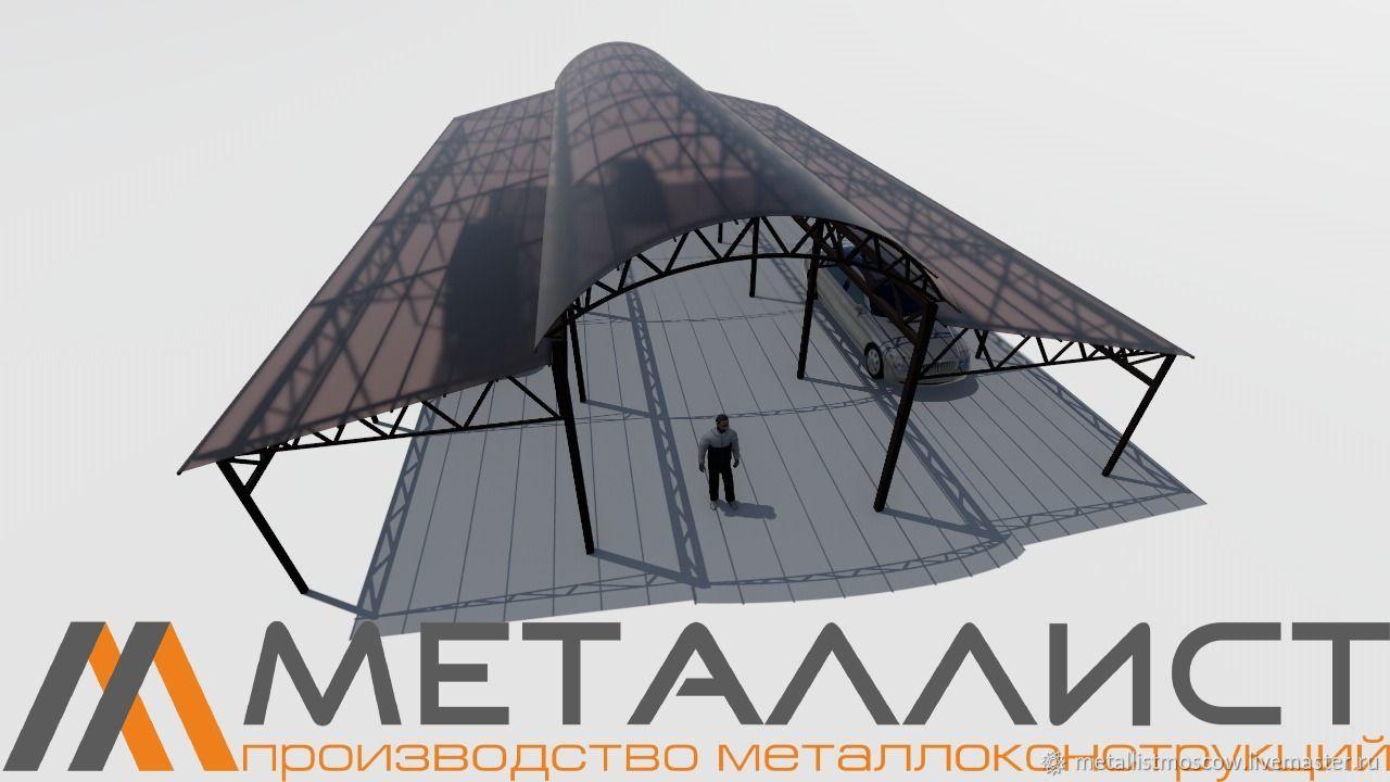Навес - стоянка, Экстерьерные, Москва, Фото №1