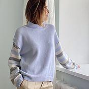 Одежда handmade. Livemaster - original item Pastel colours cashmere sweater. Handmade.