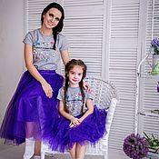 Одежда ручной работы. Ярмарка Мастеров - ручная работа Юбка пачка Мама+дочка. Handmade.