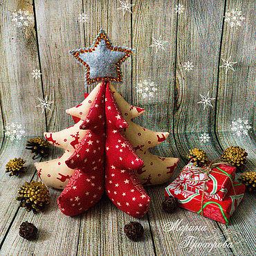 Куклы и игрушки ручной работы. Ярмарка Мастеров - ручная работа Текстильная Елка. Handmade.