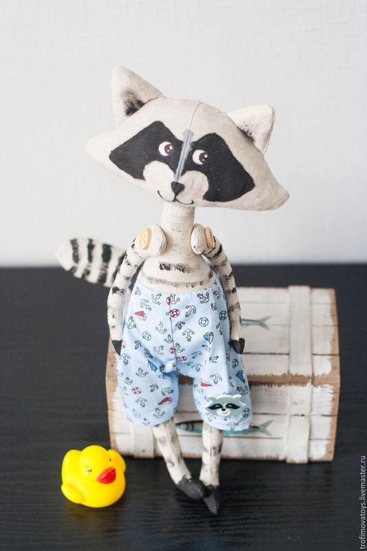 Игрушки животные, ручной работы. Ярмарка Мастеров - ручная работа. Купить Авторская текстильная игрушка Енотик. Handmade. Черный