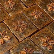 """Косметика ручной работы. Ярмарка Мастеров - ручная работа """"Кофейное"""" мыло с нуля из растительных масел. Handmade."""