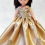Куклы и игрушки ручной работы. Ярмарка Мастеров - ручная работа скидка Золотое платье для  Паола Рейна. Handmade.