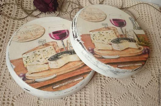 """Кухня ручной работы. Ярмарка Мастеров - ручная работа. Купить Сырные досочки """"Вино и сыр"""". Handmade. Сырные досочки, досочка"""