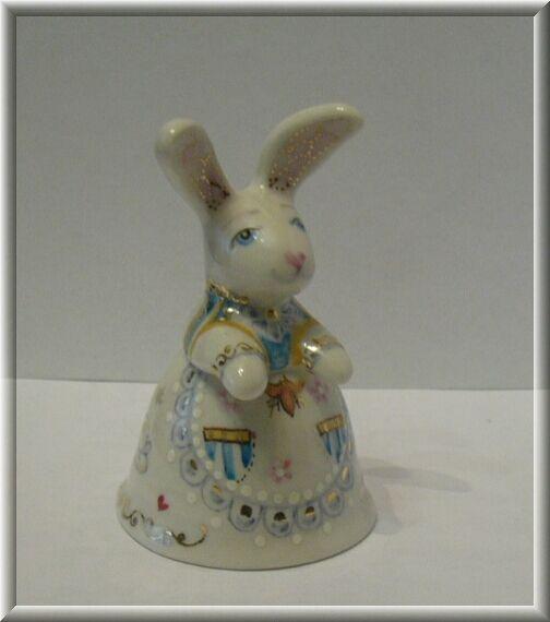 Porcelain bell `Rabbit-hostess.`