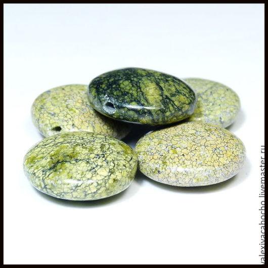 Для украшений ручной работы. Ярмарка Мастеров - ручная работа. Купить Натуральные бусины змеевик натуральные камни. Handmade. Бусины