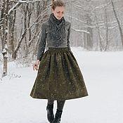 Юбки ручной работы. Ярмарка Мастеров - ручная работа Шерстяная юбка цвета хаки. Handmade.