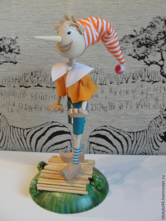 """Коллекционные куклы ручной работы. Ярмарка Мастеров - ручная работа. Купить кукла """"Буратино"""". Handmade. Разноцветный, работа авторская"""