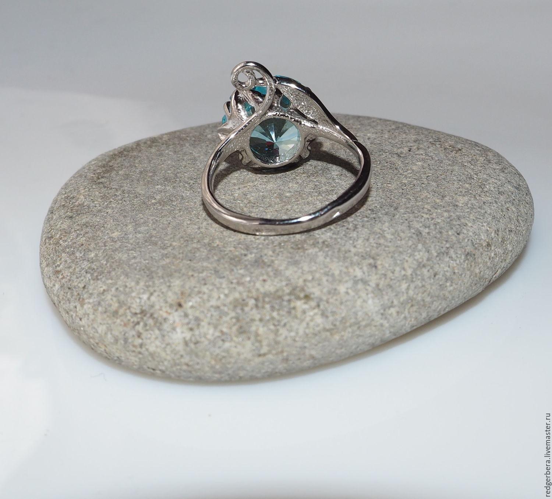 "Ring ""Blue Lotus"" 925 sterling silver – shop online on Livemaster"