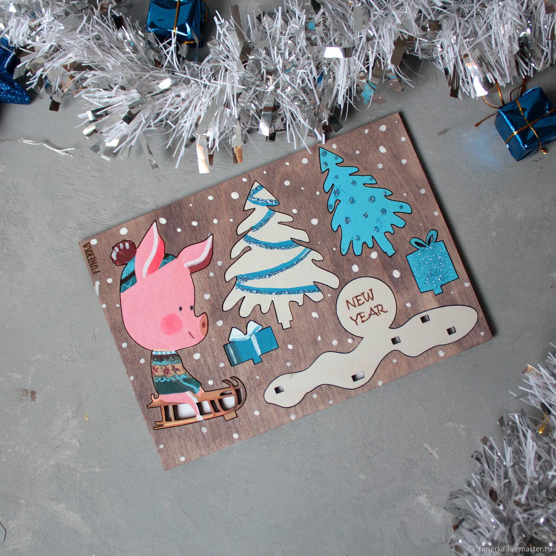 Новогодние открытки из фанеры ливмастер, открытки днем