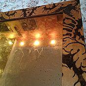 Для дома и интерьера ручной работы. Ярмарка Мастеров - ручная работа Состаренное зеркало из потали в винтажной раме ручной работы золочение. Handmade.