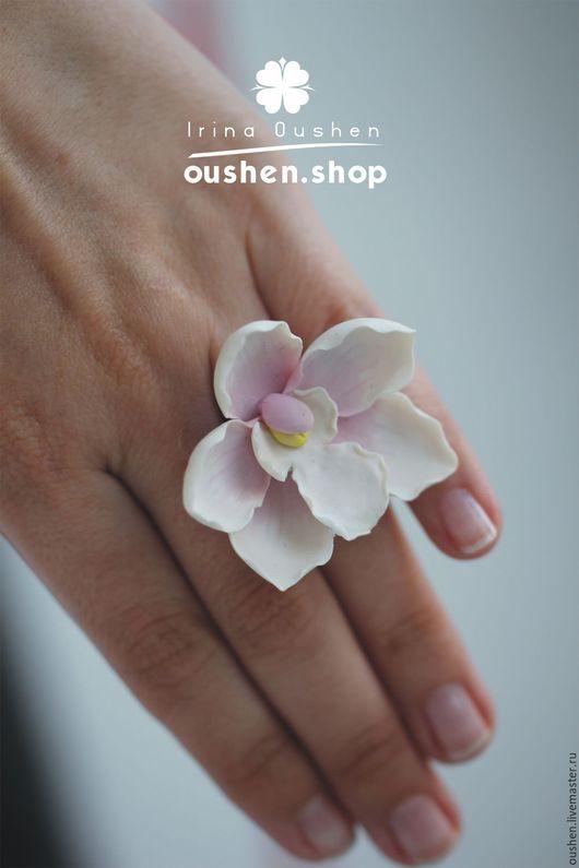 Кольца ручной работы. Ярмарка Мастеров - ручная работа. Купить Кольцо с цветком из полимерной глины. Handmade. Цветы ручной работы