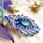 Украшения handmade. Livemaster - original item Fused glass pendant. Feather Firebird. Handmade.