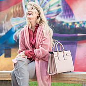 Одежда ручной работы. Ярмарка Мастеров - ручная работа Кардиган-трансформер розовый. Handmade.