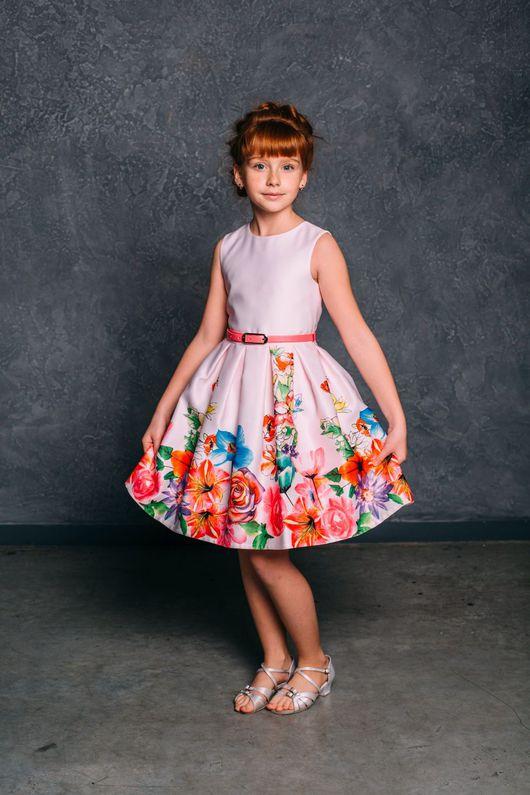 """Одежда для девочек, ручной работы. Ярмарка Мастеров - ручная работа. Купить Нарядное нежное платье для девочки """"Лилия"""" (60). Handmade."""