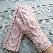Аксессуары handmade. Livemaster - original item A copy of the work mittens knitted braid. Handmade.