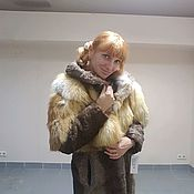 "Шубка из лисы и намибийского каракуля ""Леди"""