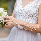 "Украшения handmade. Livemaster - original item Slave bracelet with pearls ""Princess""(wedding jewelry,bracelet ring). Handmade."