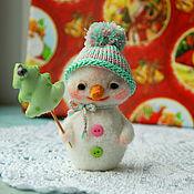 Куклы и игрушки ручной работы. Ярмарка Мастеров - ручная работа Снеговик, новогодняя игрушка. Handmade.