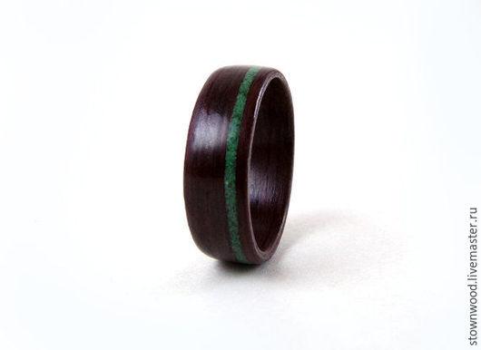 Кольца ручной работы. Ярмарка Мастеров - ручная работа. Купить Кольцо Амарант/Малахит. Handmade. Тёмно-зелёный, натуральное дерево, амарант