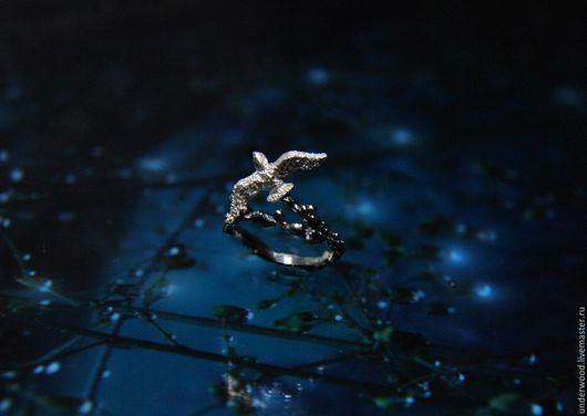 """Кольца ручной работы. Ярмарка Мастеров - ручная работа. Купить Серебряное кольцо """"Чайка"""". Handmade. Серебряный, море, серебряное кольцо"""
