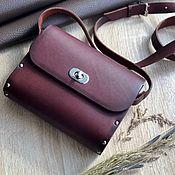Сумки и аксессуары handmade. Livemaster - original item Bag with wooden inserts, cross-body, handmade leather. Handmade.