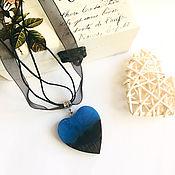 Украшения handmade. Livemaster - original item Pendant made of wood and resin. Pendant in the shape of a heart. A gift to the girlfriend. Handmade.